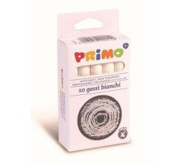 Valge kriit PRIMO 10 tk karbis - ümmargune kuju