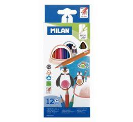 Värvipliiatsid MILAN kolmnurksed 12 värvi