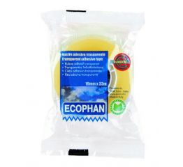 Läbipaistev teip EURO ECOPHAN19mm*33m, 8tk karbis