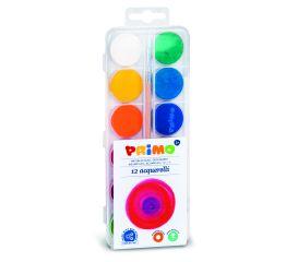 Akvarellid PRIMO 12 värvi 25mm+pintsel