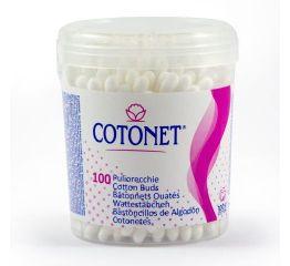Vatitikud COTONET 100 tk. ümmarguses karbis