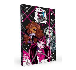 Vihikumapp MONSTER HIGH A4 kummiga laius 3cm