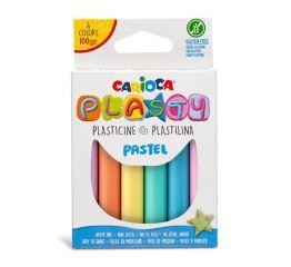 Plastiliin CARIOCA PASTEL 6 värvi 100 g riputatavas pappkarbis