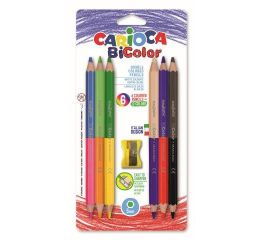 Värvipliiatsid CARIOCA BiColor, 6 tk=12 värvi+ teritaja