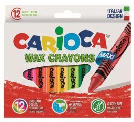 Vahapliiatsid CARIOCA JUMBO 12 värvi, paberümbrisega