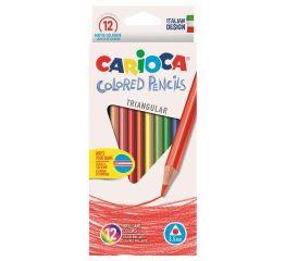 Värvipliiatsid CARIOCA 12 tk, kolmnurksed