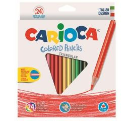 Värvipliiatsid CARIOCA PASTELLI-24 värvi, kolmnurksed