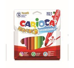 Viltpliiatsid CARIOCA BRAVO 12 värvi karbis, 6mm ots