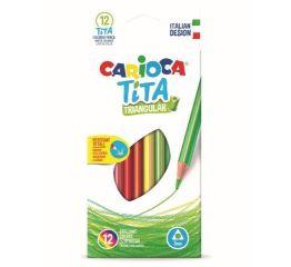 Värvipliiatsid CARIOCA TITA 12 värvi, kolmnurksed, painduvad