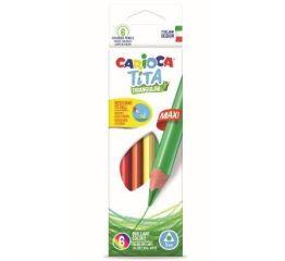 Värvipliiatsid CARIOCA TITA MAXI 6 värvi, kolmnurksed.