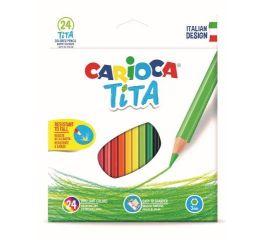 Värvipliiatsid CARIOCA TITA 24 värvi, painduv