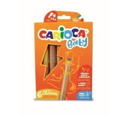 Rasvakriidid CARIOCA BABY JUMBO 1+ puitümbrisega 6 tk+ teritaja