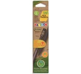 Harilik pliiats CARIOCA Eco Family 6 tk HB ja kustukummiga papist karbis