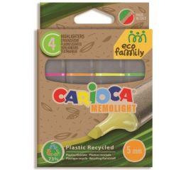 Helestusmarker CARIOCA Eco Family 4 tk ja värvi papist karbis