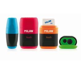 Pliiatsiteritaja 2 auguga+ kustukumm MILAN Touch, 16 alusel