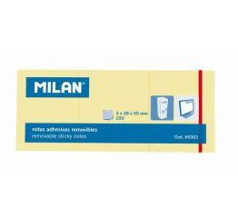 Märkmepaber MILAN kleepsuga 38x50 mm, 3 tk.