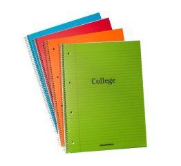 College plokk A4 plastkaanega 4 auku 80 lehte