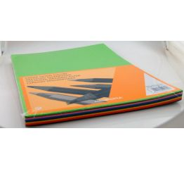 Värvipaberite komplekt A4 10 värvi x 100 lehte
