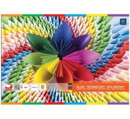 Värvipaberiplokk A4 10 värvi 160g