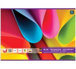 Värvipaberiplokk A4 20 värvi 180g