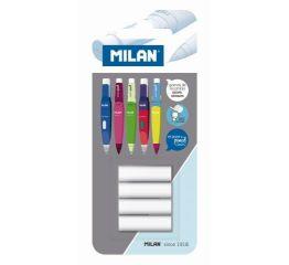Tagavarakustukummid MILAN mehhaanilisele  harilikule pliiatsile 4 tk blistris