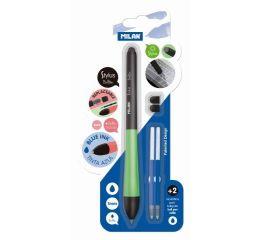 Pastapliiats MILAN Stylus 1mm, puutetundlik+2 tagavaraotsikut+2 südamikku, sinine, blistris