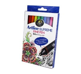 Viltpliiatsid ARTLINE Supreme 0,4 kolmnurksed 10 tk