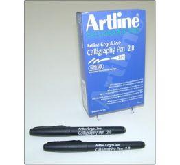 Tintpliiats kalligraafiline ErgoLine 2.0 mm - must