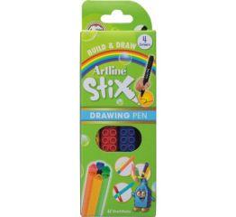 Viltpliiatsid Artline Stix 0,5mm, 4 värvi karbis, ühendatavad