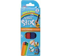 Viltpliiatsid Artline Stix 1,2mm, 4 värvi karbis, ühendatavad