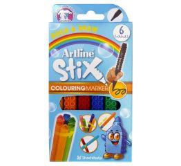 Viltpliiatsid Artline Stix 1,2 mm, 6 värvi karbis, ühendatavad