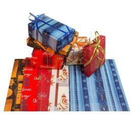 Jõulupakkepaber 70 cm x 1 m, 100 lehte, assortii