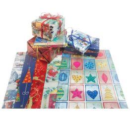 Jõulupakkepaber 70 cmx1 m,100lehte,assortii, ka lastepaber