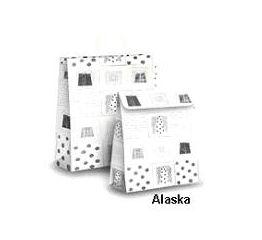 Klapiga suletav jõuluteemaline kott ALASKA 20x8x27