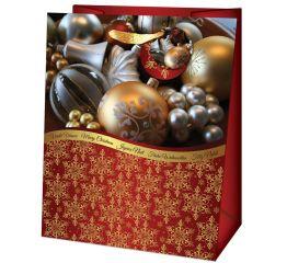 Sangadega jõulukott 26,7x13,7x33 jõulukuulid