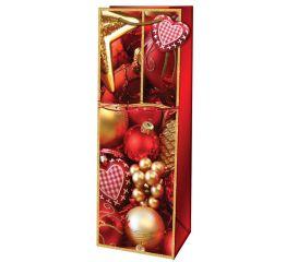 Sangadega jõulupudelikott jõuluehted 12,6x8,9x36