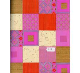 Fooliumkott värvilised ornamentidega ruudud 45x60