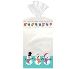 Kinkekott läbipaistev lumememmed 11x5x21, 10 tk pakis