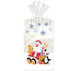 Kinkekott läbipaistev jõuluvana 15x6x24, 10 tk pakis