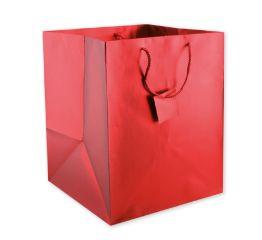 Sangadega kott metallik punane