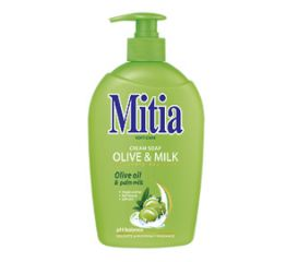 Vedelseep MITIA 0,5 l - Olive & Milk, pumbaga