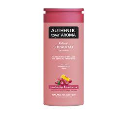Dušigeel AUTHENTIC toya AROMA jõhvikas&nektariin 400 ml