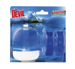 WC geel dr DEVIL 3x55ml + konteiner polar aqua