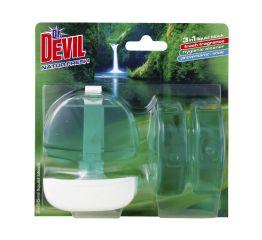 WC geel dr DEVIL 3x55ml + konteiner natur fresh